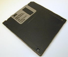 Hide passwords in an old floppy disk