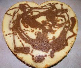 Coffee Mocha Swirled Cheesecake