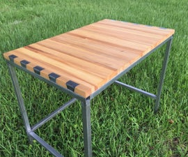 Dovetail Desk (Steel into Wood)
