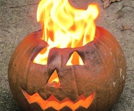 Jack-o'-lantern on Fire ('Propane Pumpkin')