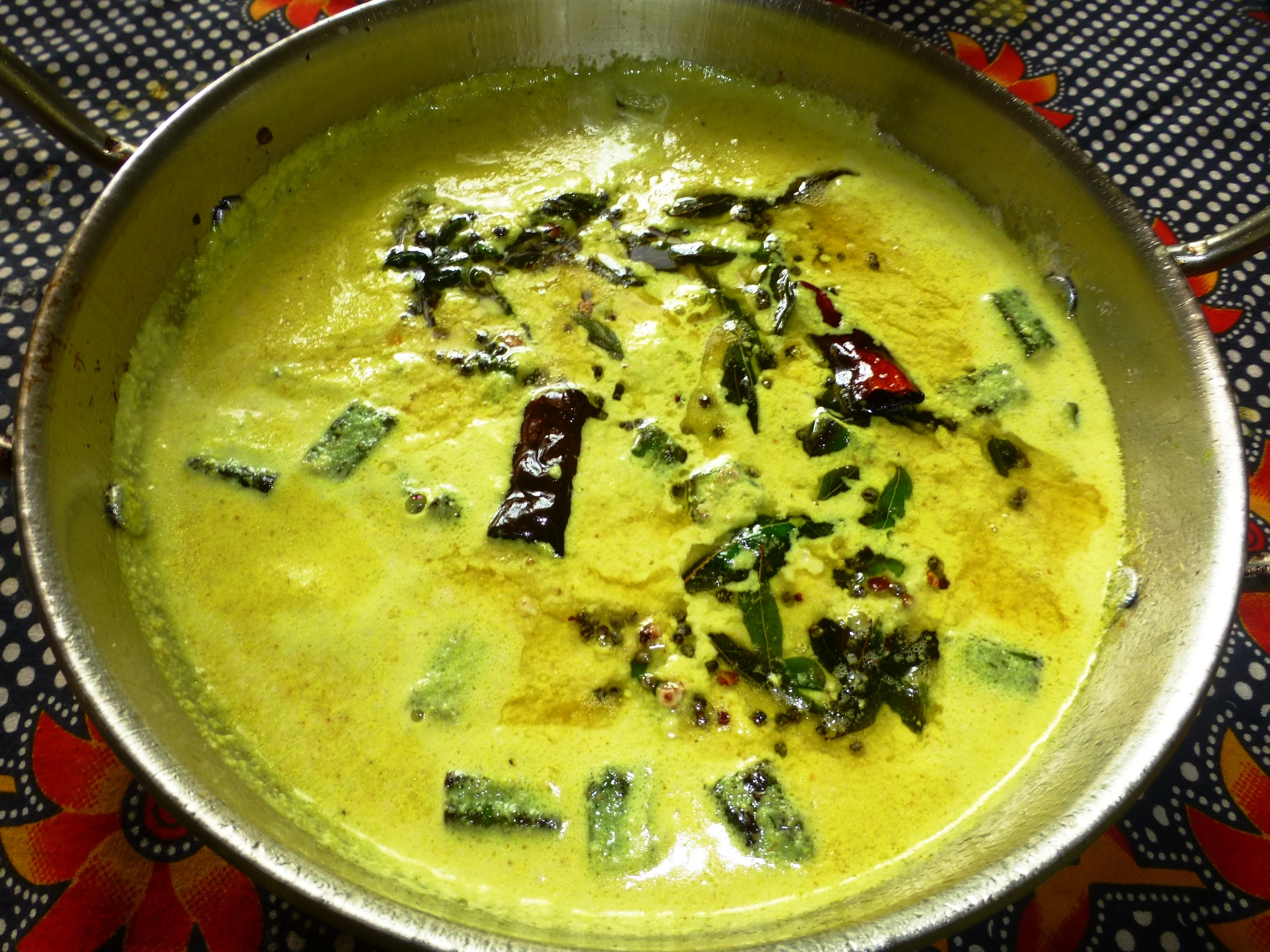 Picture of Spicy Yogurt Stew With Okra and Coconut Paste