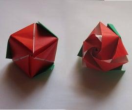 Magic Origami Transforming Rose (Valentines Day)