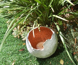 Concrete Sphere Planter or Water Feature