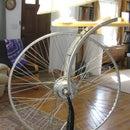 homage to duchamp's bicycle wheel - a dual mode led lamp (DC hub generator or AC plugin)