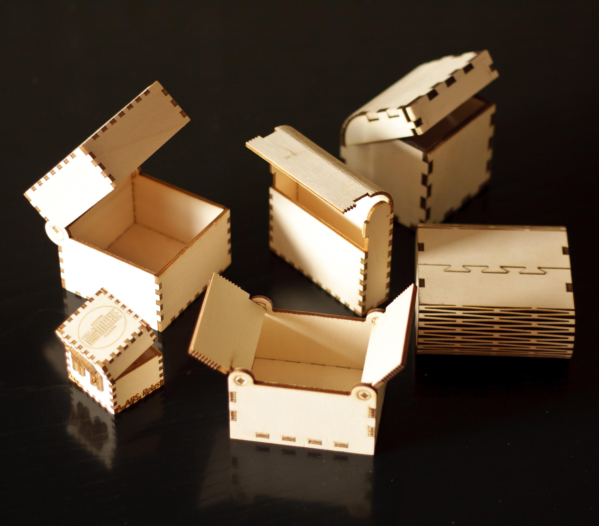 Picture of Lasercut Little Wood Boxes