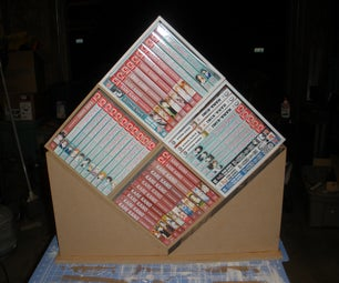 Diamond Shaped Bookcase for DVDs, Video Games or Manga