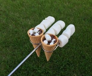 Camp Fire Skewers for SMORES CONES!