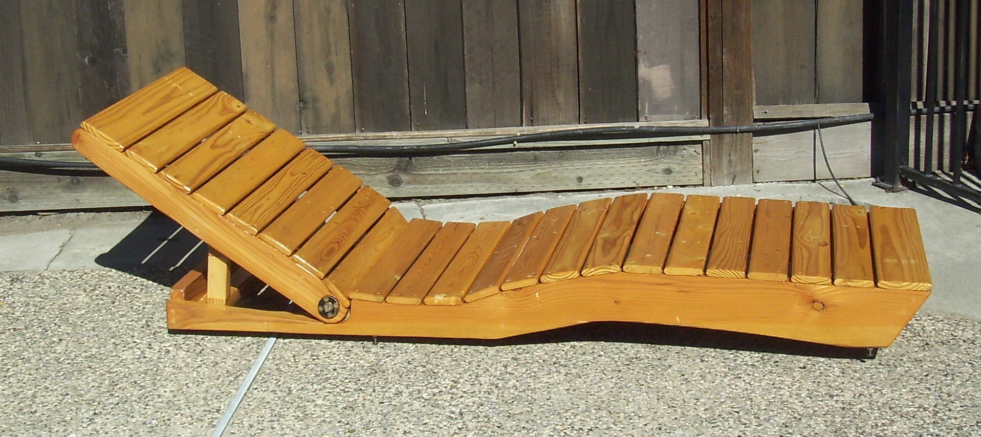 Charmant ... Picture Of Outdoor Chaise Lounge Made From Pallet Wood ...