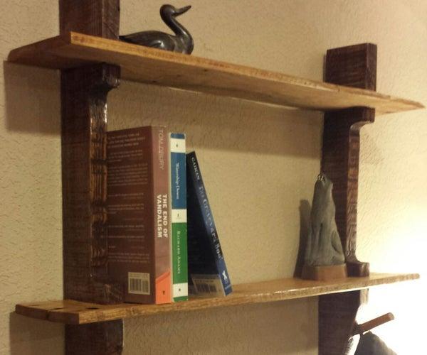 Pallet Wood Shelf/Coat Rack