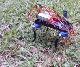 Arduino 4 Leg Robot Control Via Bluetooth