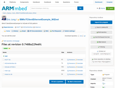 Import Mbed Program and Modify the Code for Your Auth Info