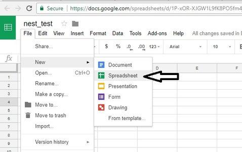 Create a New Google Sheet (Do a Save As on My Shared Spreadsheet)