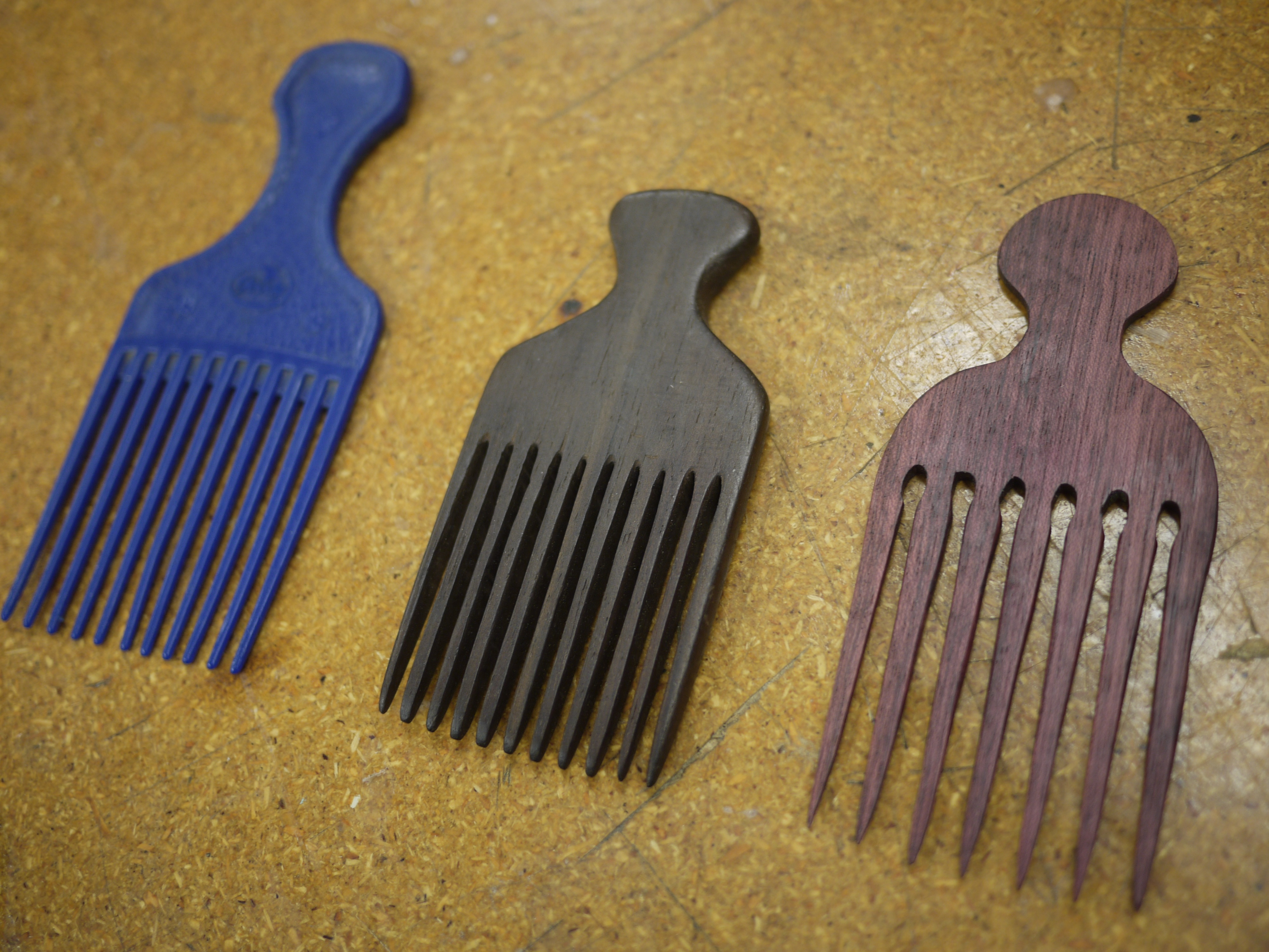 Picture of Hardwood Hair Combs on the Scroll Saw - Made at Techshop