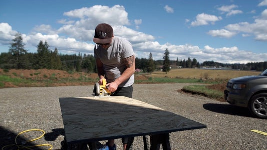 Measure and Cut the Base for the Main Desk Surface