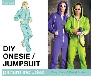 Adult Onesie / Jumpsuit Pattern