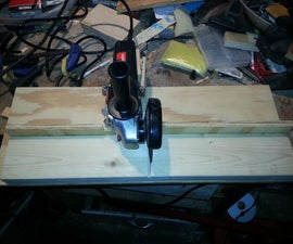 Metal chop saw from grinder made of wood