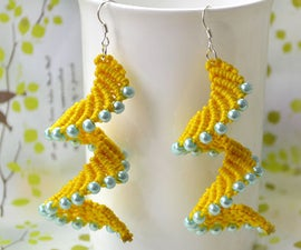 Macramé Spiral Earrings - How to Make Knitted Earrings Patterns with Pearl Beads