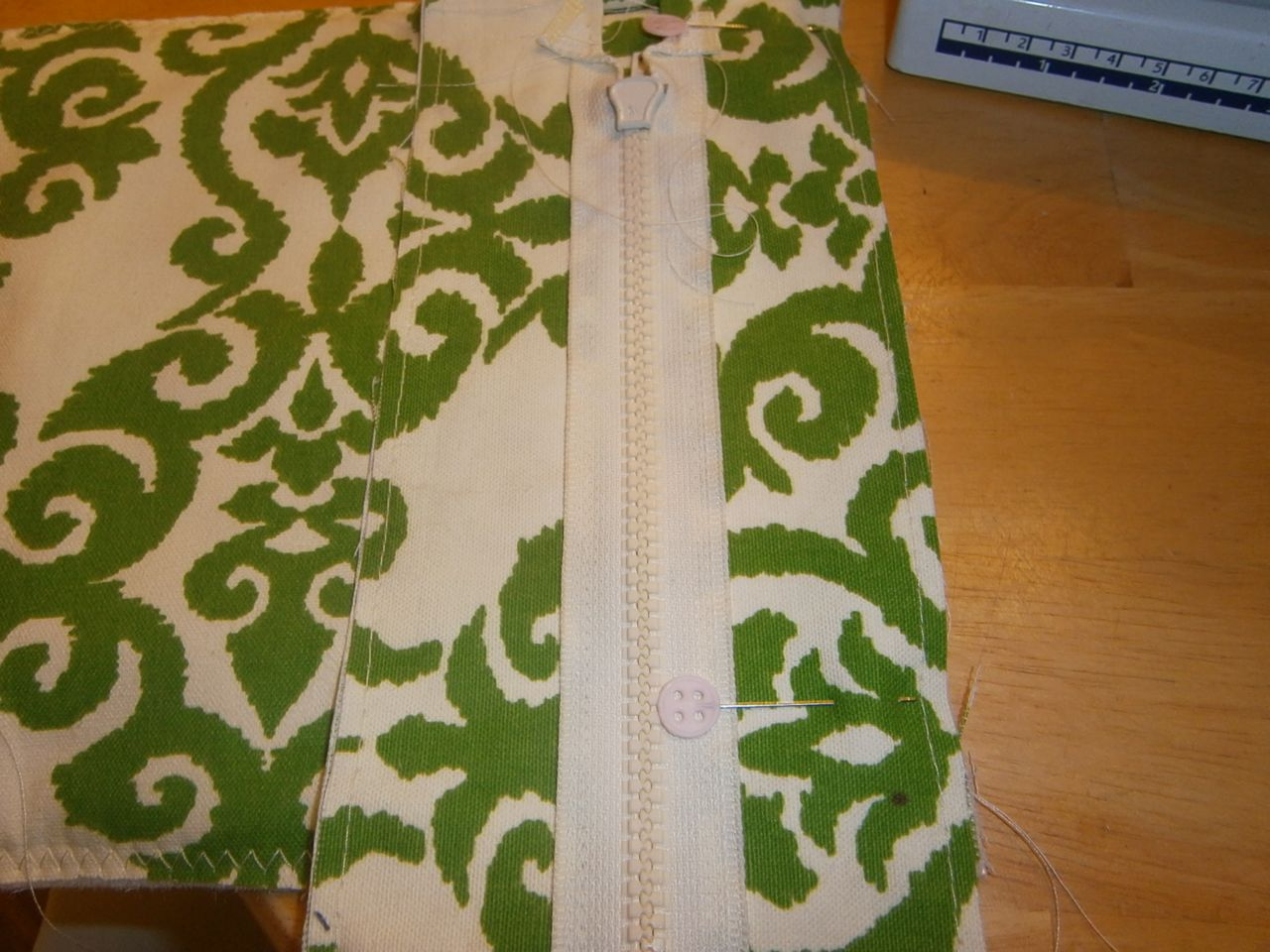 Picture of Zipper Panel Attached to Top.