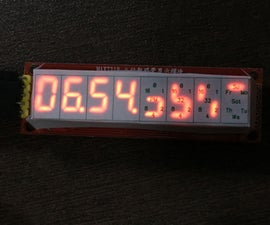 Digital & Binary Clock in 8 Digits X 7 Segments LED Display