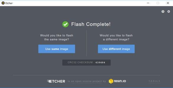 Flash the SD Card