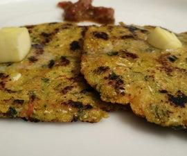 Stuffed Makki Ki Roti/ Indian Bread Recipe