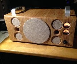 DIY Bluetooth Boombox -wooden, oldschool