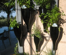 Upcycled 'Champagne' Bottles Planters