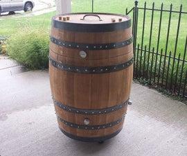 Whiskey Barrel BBQ Smoker