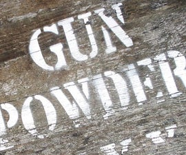 Homemade gunpowder
