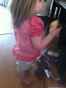 Ruffly Pink Applique Shirt
