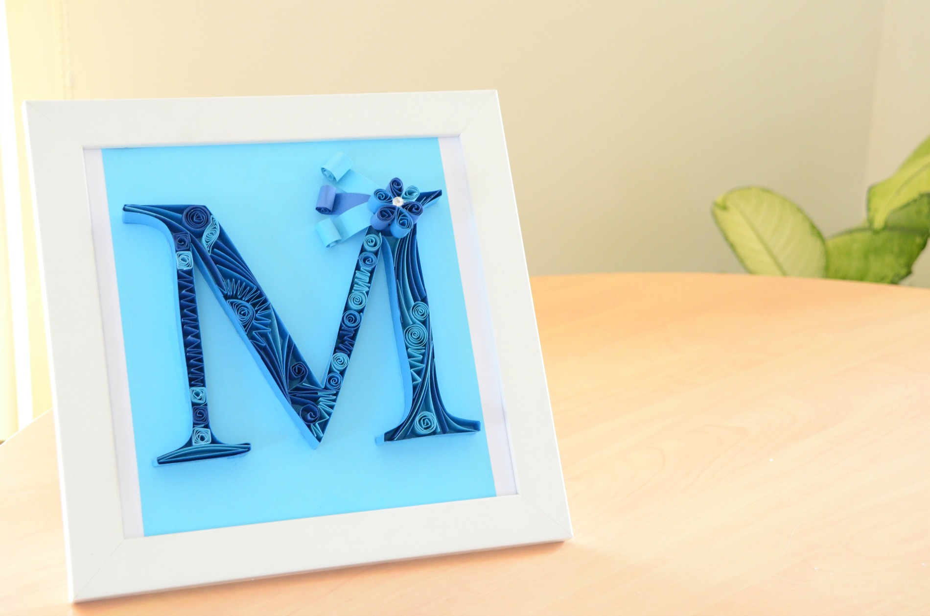Picture of Paper Quilling Letter M