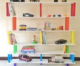 45 Minute Flat Pack Rainbow Bookshelf