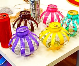 Arizona Tea Can Lanterns