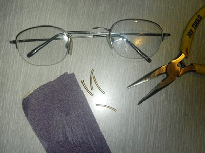 Fix Broken Eye Glasses With Copper Tubing