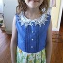 Vintage Flair pintucks and pleats dress