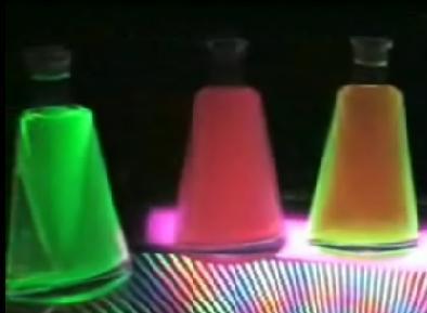 UV Glowing Liquor Bottle Display
