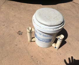 DIY Tackle Box Fishing Seat and Pole Holder From a 5 Gallon Bucket