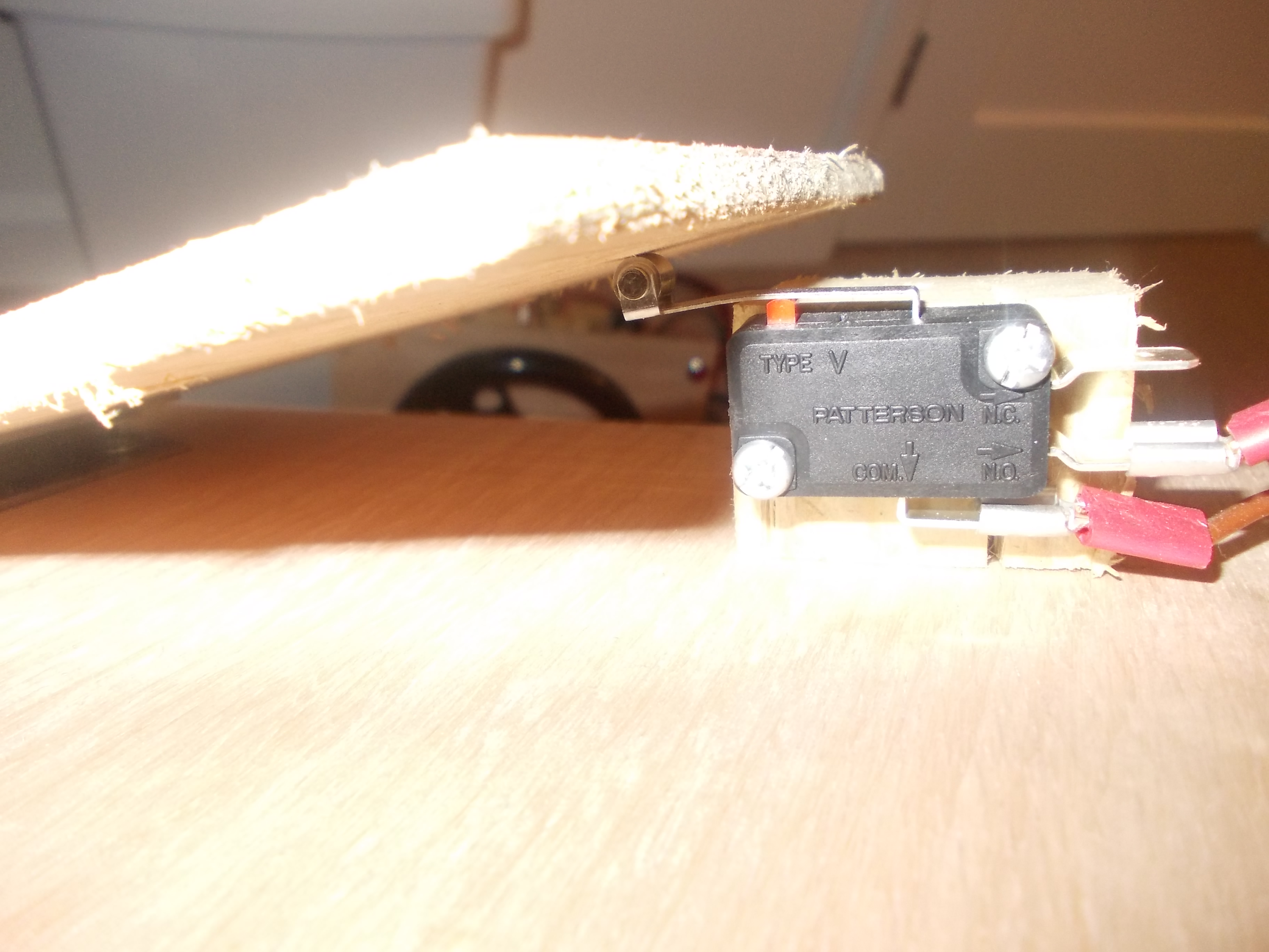 Picture of Mounting Micro Switch Below Pedal