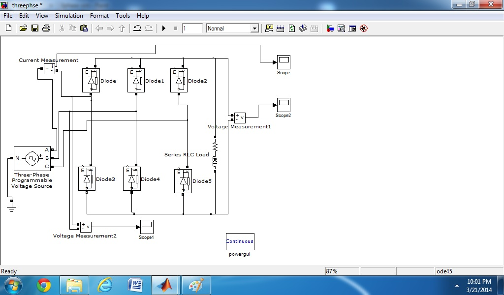 Picture of MATLAB Model