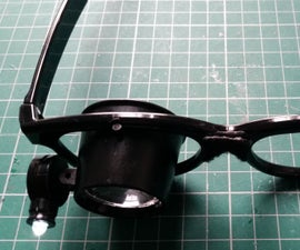 Make a pair of glasses with a magnifier Loupe lens for £0.99