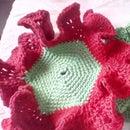 Crochet Flower Dish Cloth