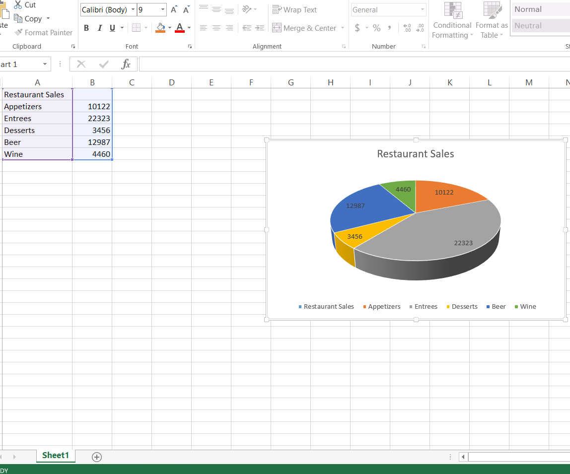 How To Create And Label A Pie Chart In Excel 2013 8 Steps