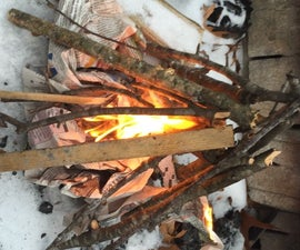 How to Make a Tepee Campfire