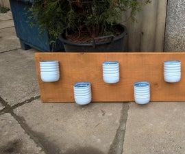 Herb rack from plastic bottles