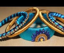 How to Make Silk Thread Bangle Set at Home || Silk Thread Designs Bangles 2018 || Fancy Partywear Bangle Set || New Partywear Bangle Designs