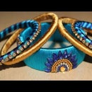 How to Make Silk Thread Bangle Set at Home || Silk Thread Designs Bangles 2018 || Fancy Partywear Bangle Set || New Partywear Bangle Designs