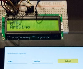 Bluetooth communication between LCD and HTML app