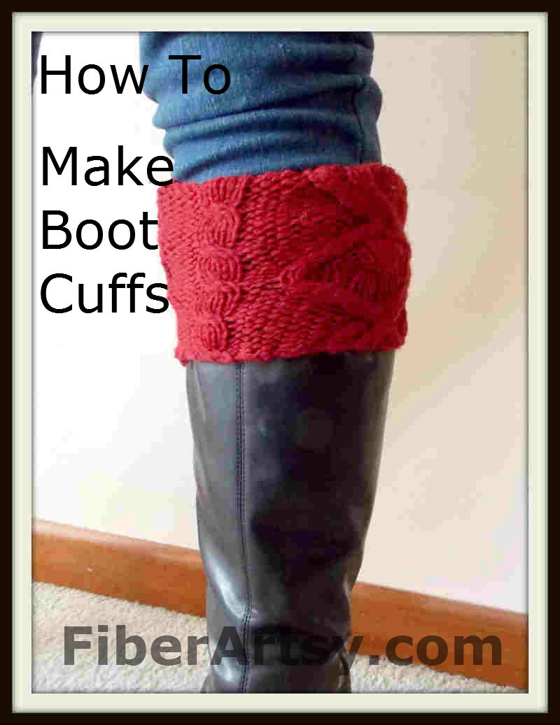 Picture of How to Make Boot Cuffs From an Old Sweater