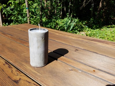 Aesthetic Cement Candle