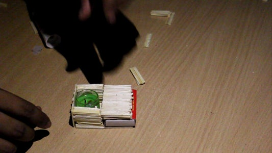Use Super Glue and Attach Matchbox and Gel Candle